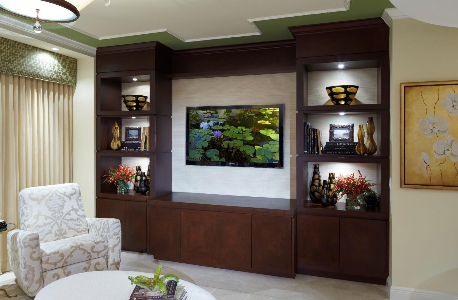 Living Living Room Wall Units White Sideboard Furniture Brown Pertaining To  Fitted Wall Units Living Room