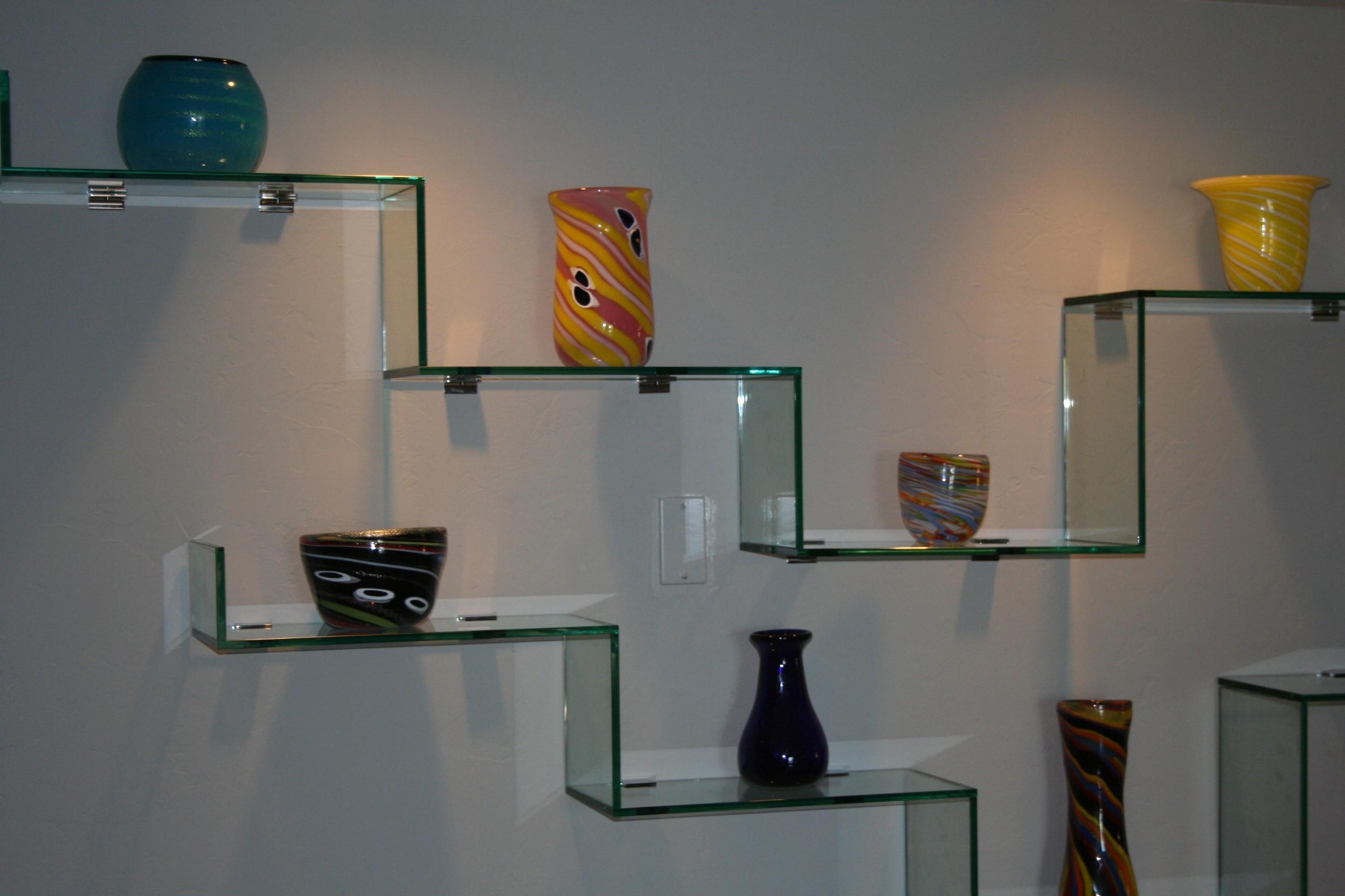 Popular Photo of Glass Shelves Living Room