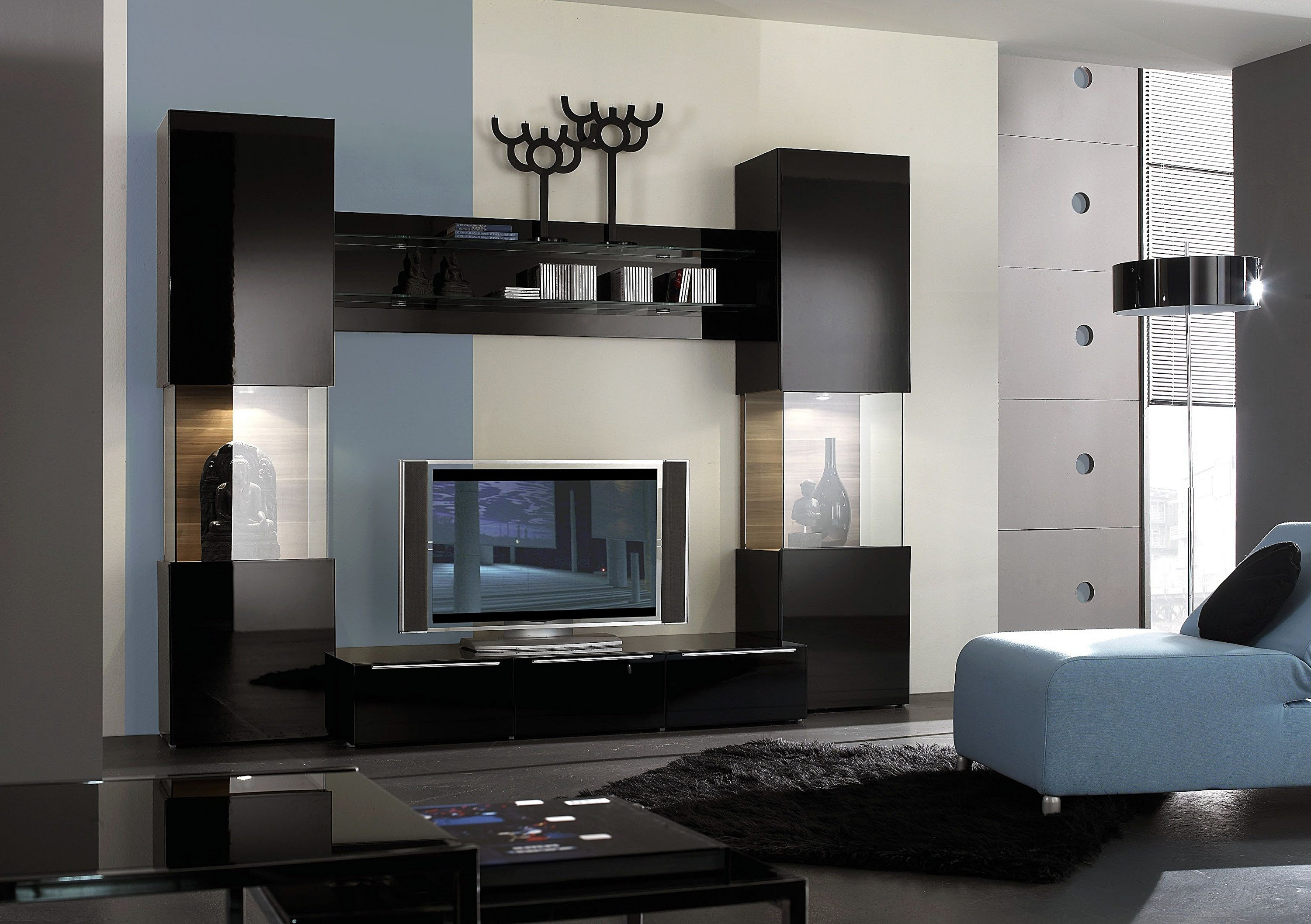 Living Room Paint Modern Tv Wall Unit Decorating Furniture Paint Inside Tv Wall Unit (#10 of 15)