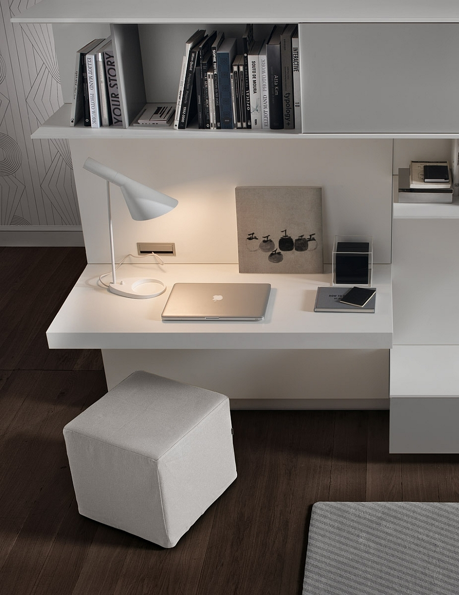 Living Room Wall Unit System Designs Workspaces And Ottomans Regarding Study Wall Unit Designs (#10 of 15)