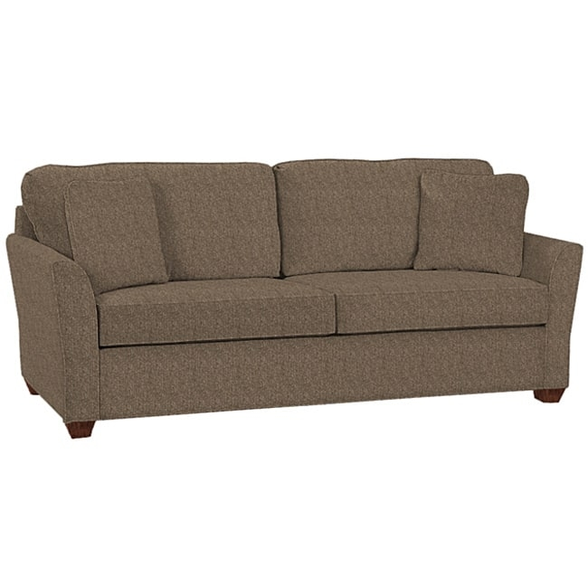 Logan Charcoal Tweed Fabric Sofa Free Shipping Today Overstock With Tweed Fabric Sofas (View 15 of 15)