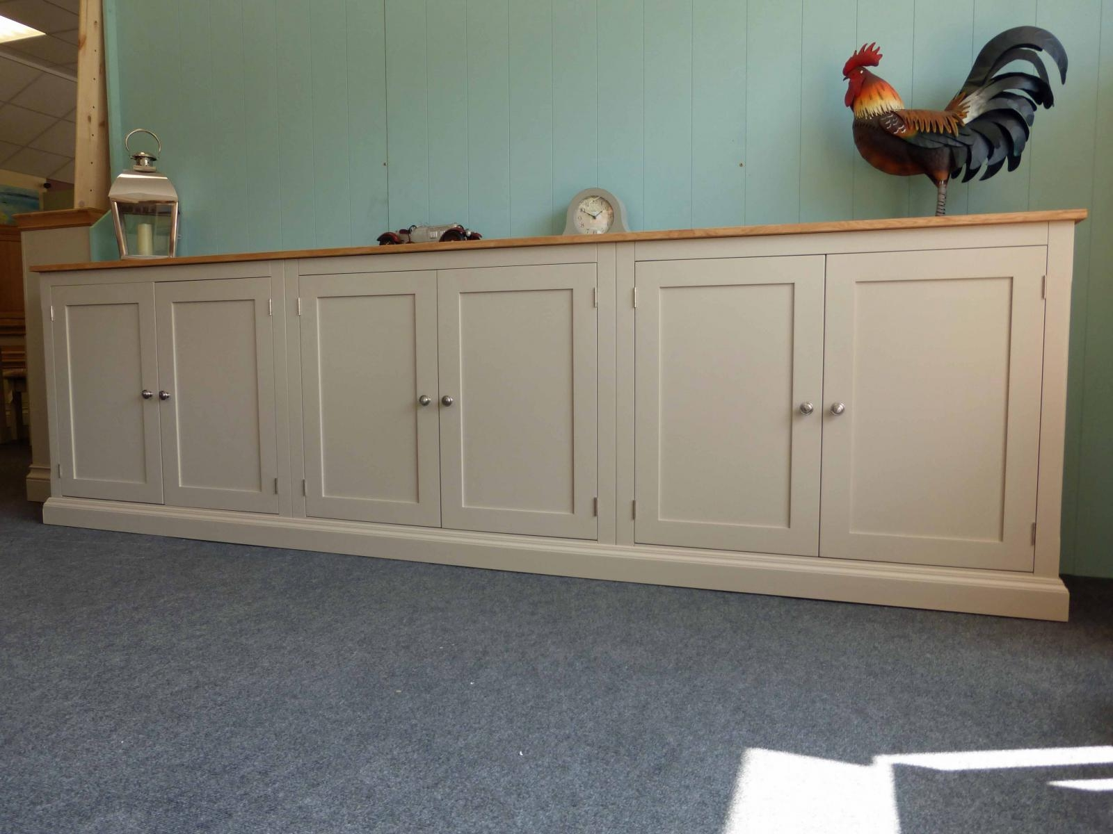 Long Low Six Door Cupboard Bespoke Living Room Furniture Pine Regarding Bespoke Cupboard (#10 of 15)