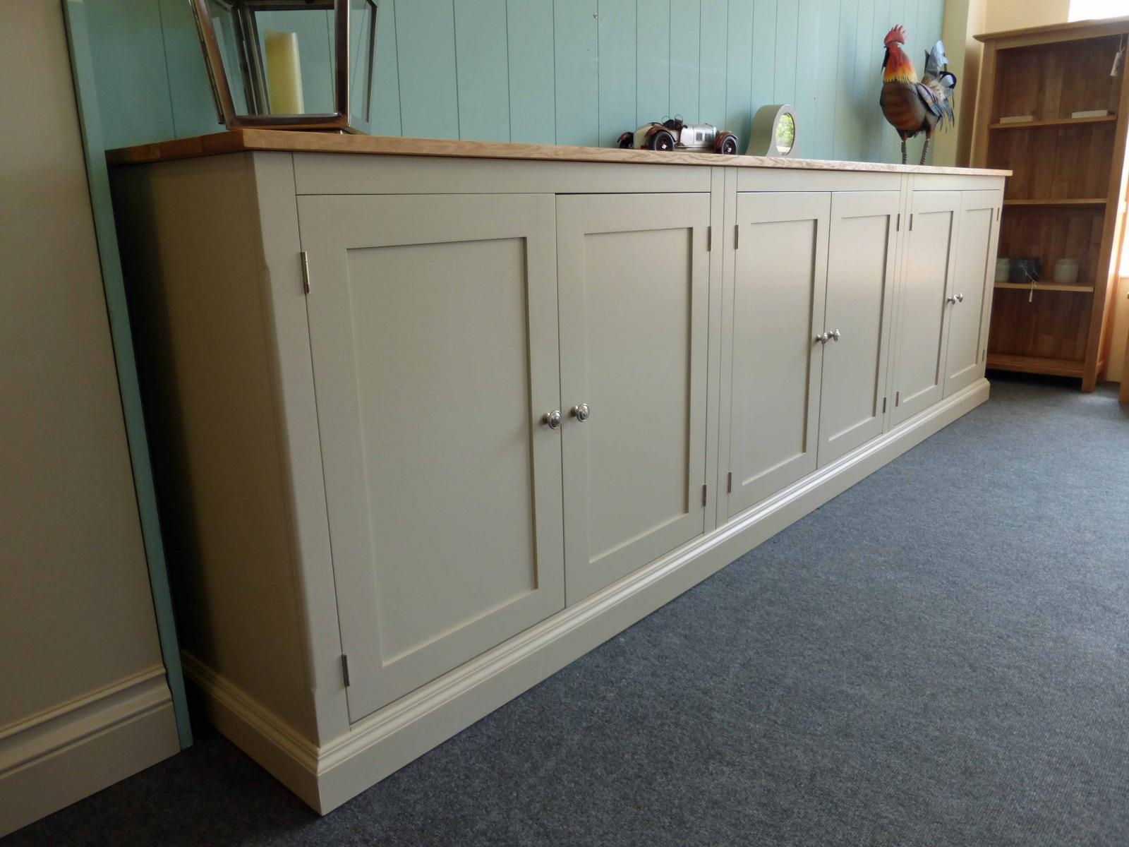 Long Low Six Door Cupboard Bespoke Living Room Furniture Pine Regarding Bespoke Cupboard (#9 of 15)