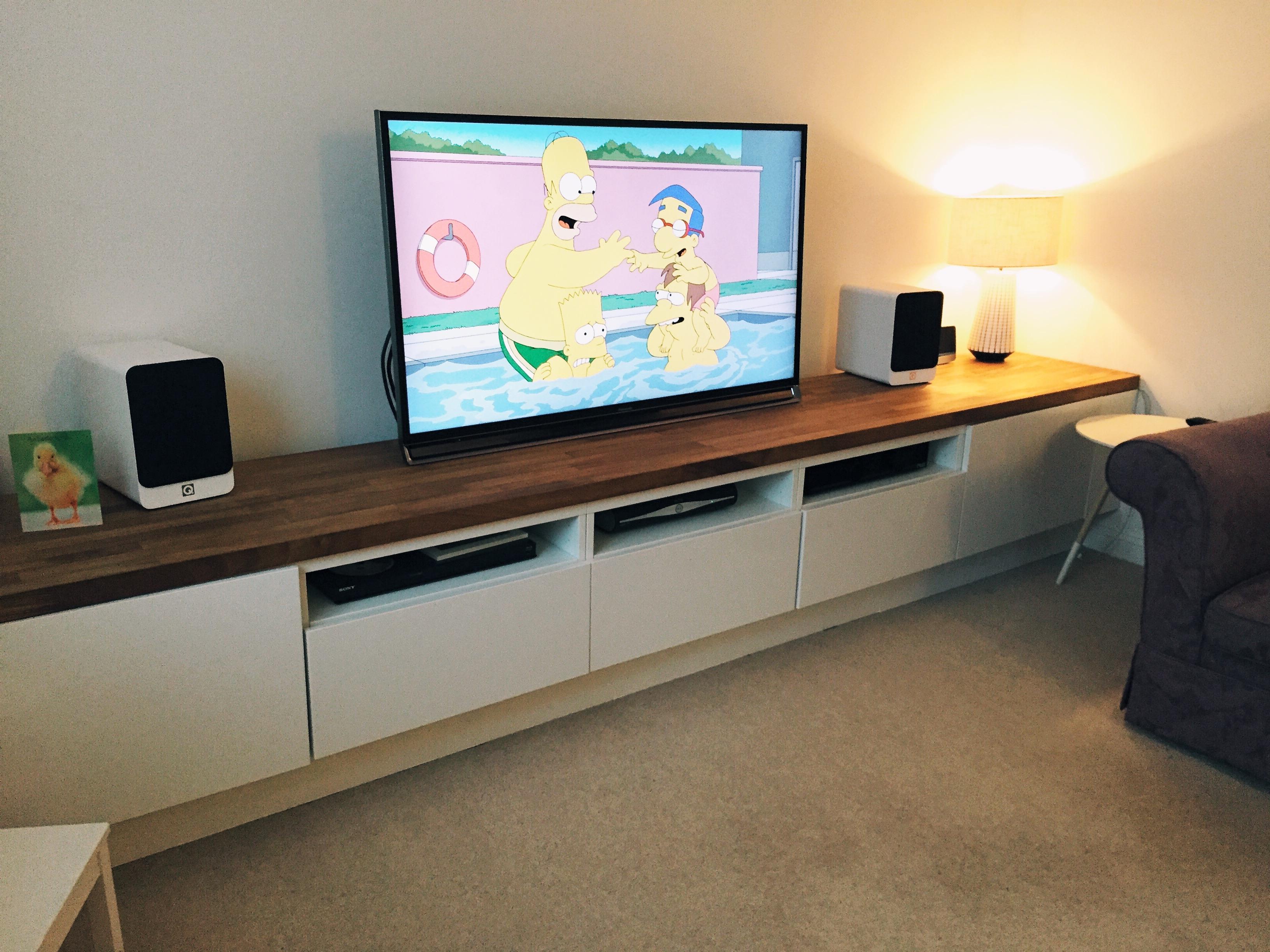 Long Tv Unit Custom Built Ikea Hack Using Besta Units On Bespoke Regarding Bespoke Tv Stands (#9 of 15)