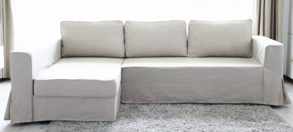 Loose Fit Linen Manstad Sofa Slipcovers Now Available Intended For Lillberg Sofa Covers (#9 of 15)