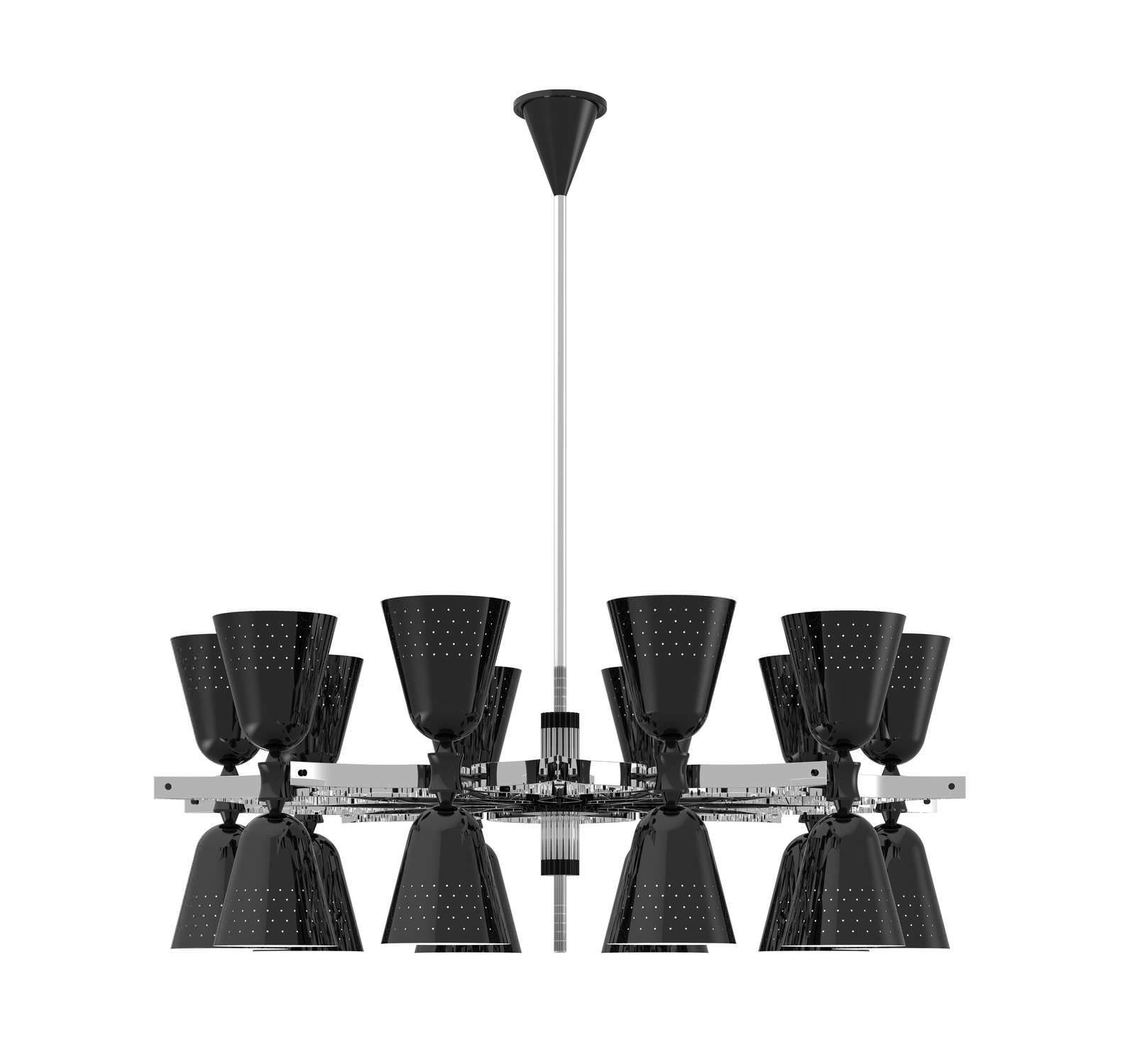 Lovable Black Contemporary Chandelier Black Glass Modern In Black Contemporary Chandelier (#9 of 12)