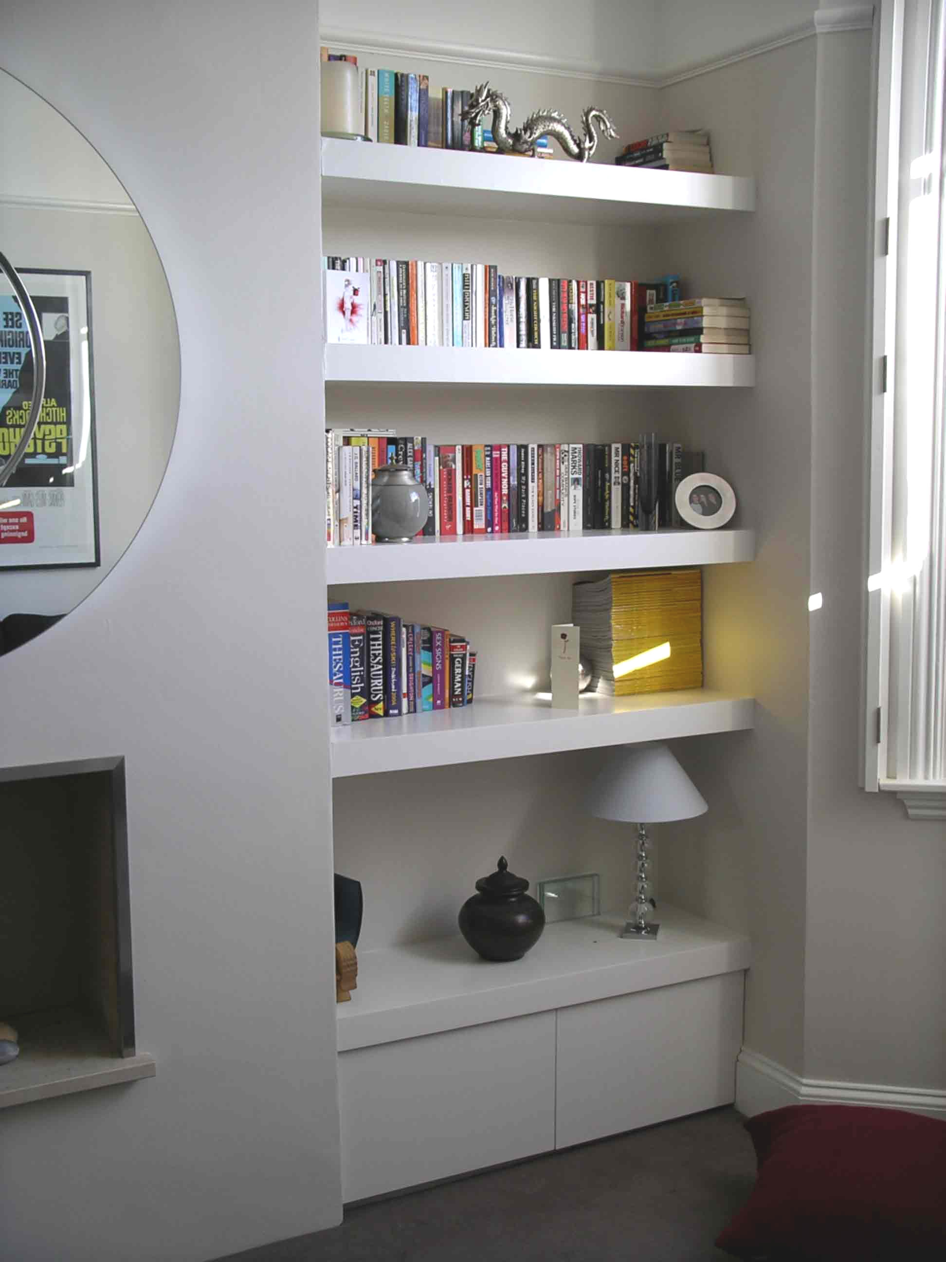 Living Room Shelf Ideas: 15 Best Ideas Of Alcove Bookcases