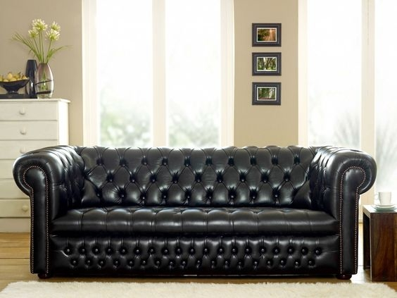 Ludlow Black Chesterfield Sofa Luft Indor Space Pinterest Within Chesterfield Black Sofas (#12 of 15)