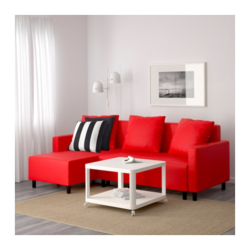 Lugnvik Sleeper Sectional 3 Seat Grann Red Ikea For Red Sofa Beds IKEA (#7 of 15)