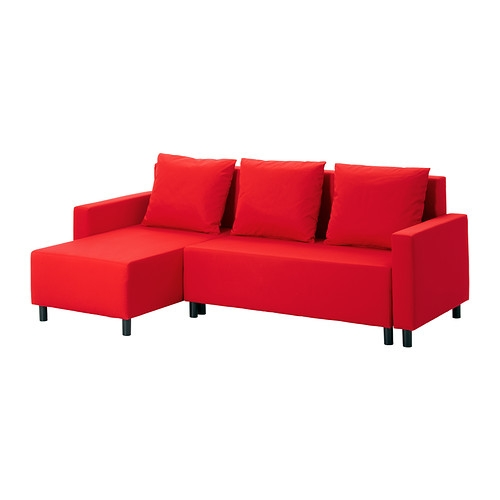 Lugnvik Sleeper Sectional 3 Seat Grann Red Ikea With Red Sofa Beds IKEA (#9 of 15)
