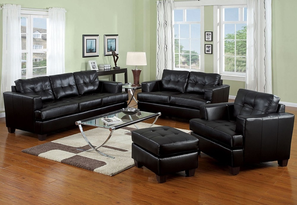 Magnificent Contemporary Black Leather Sofa Best Images About Intended For Contemporary Black Leather Sofas (View 13 of 15)