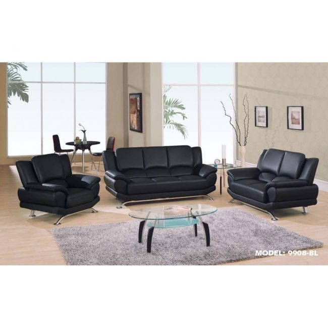 Magnificent Contemporary Black Leather Sofa Best Images About Regarding Contemporary Black Leather Sofas (View 2 of 15)