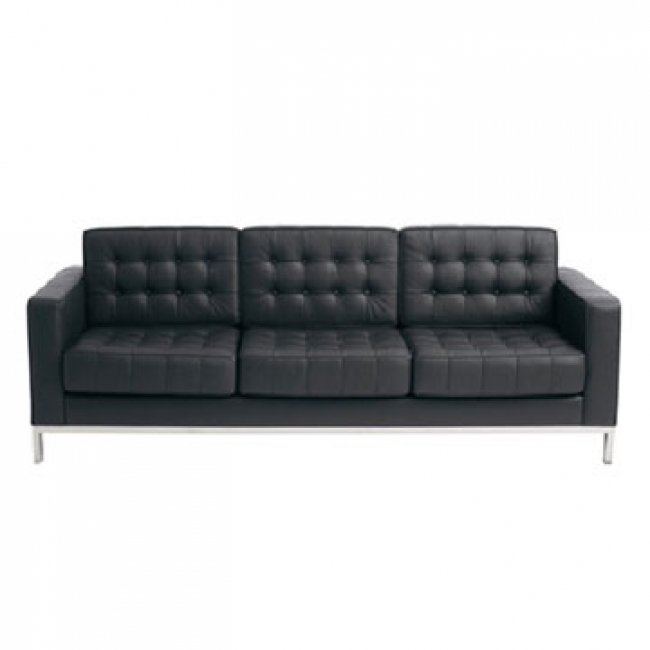 Magnificent Contemporary Black Leather Sofa Best Images About With Contemporary Black Leather Sofas (View 4 of 15)