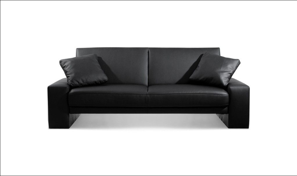 Magnificent Contemporary Black Leather Sofa Best Images About With Regard To Contemporary Black Leather Sofas (View 5 of 15)