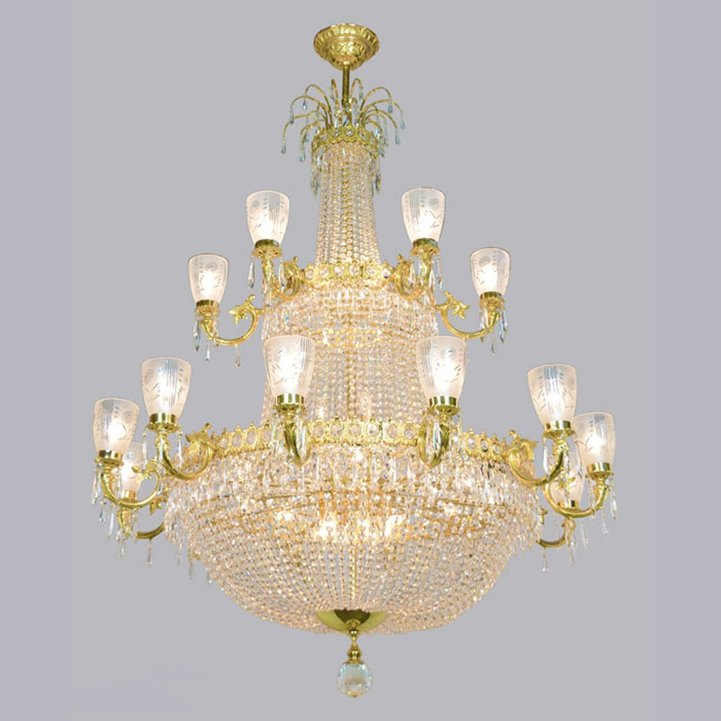 Magnificent Large Vintage Ballroom Crystal Chandelier Ant 372 For Ballroom Chandeliers (#10 of 12)