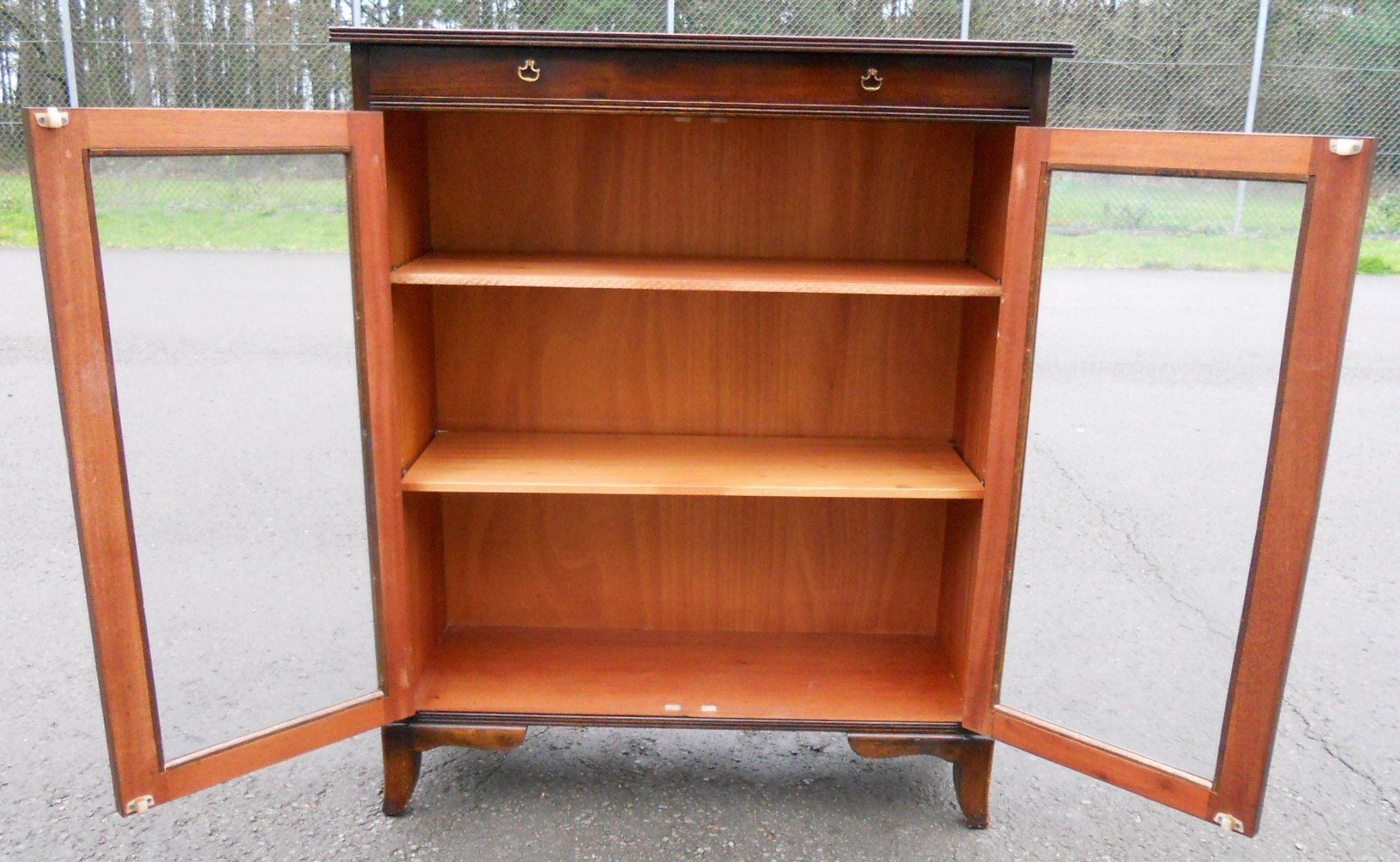 Mahogany Glazed Bookcase Cabinet Sold In Glazed Bookcases (#9 of 15)