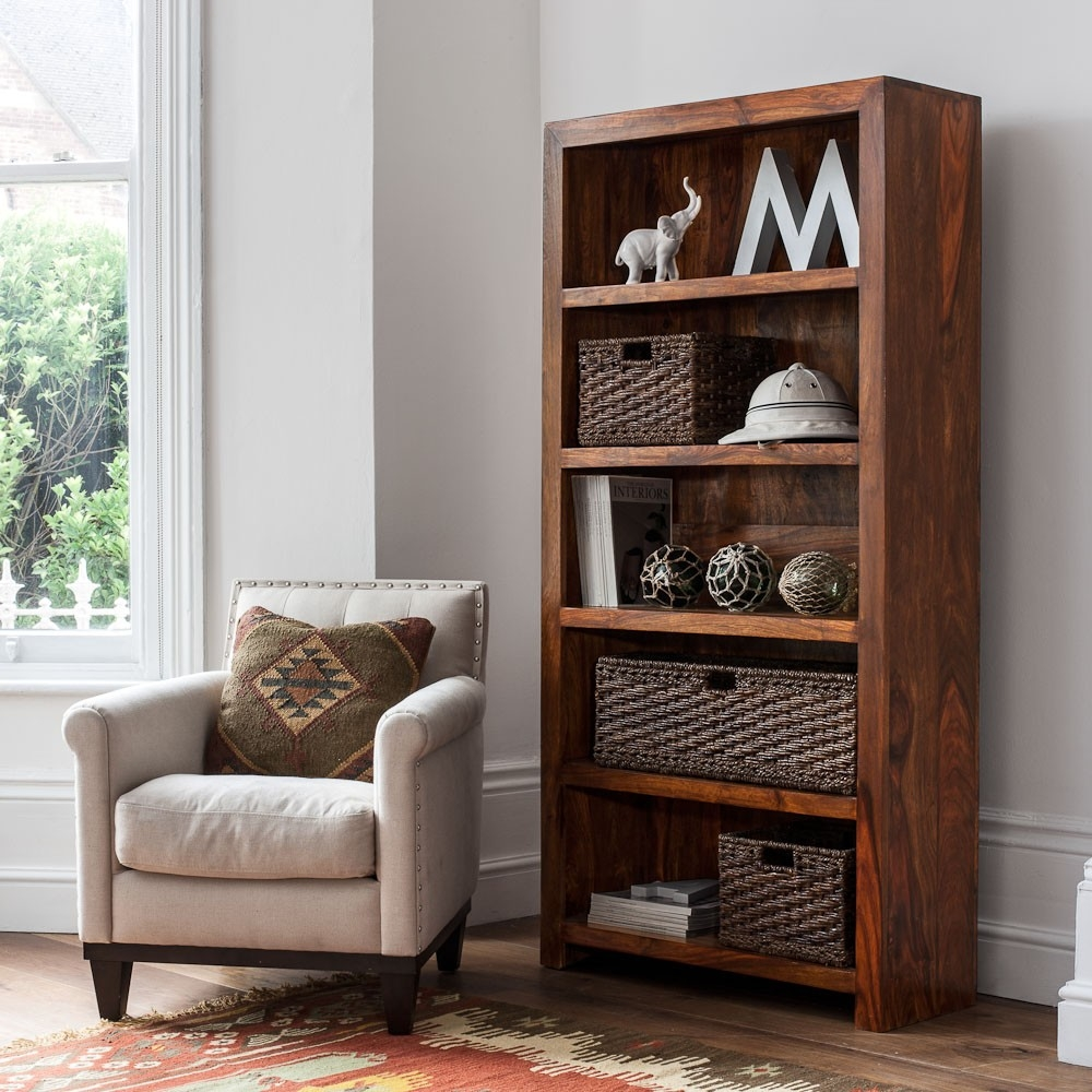 Mandir Sheesham Tall Bookcase Bookcases Pinterest Intended For Tall Bookcases (View 10 of 15)