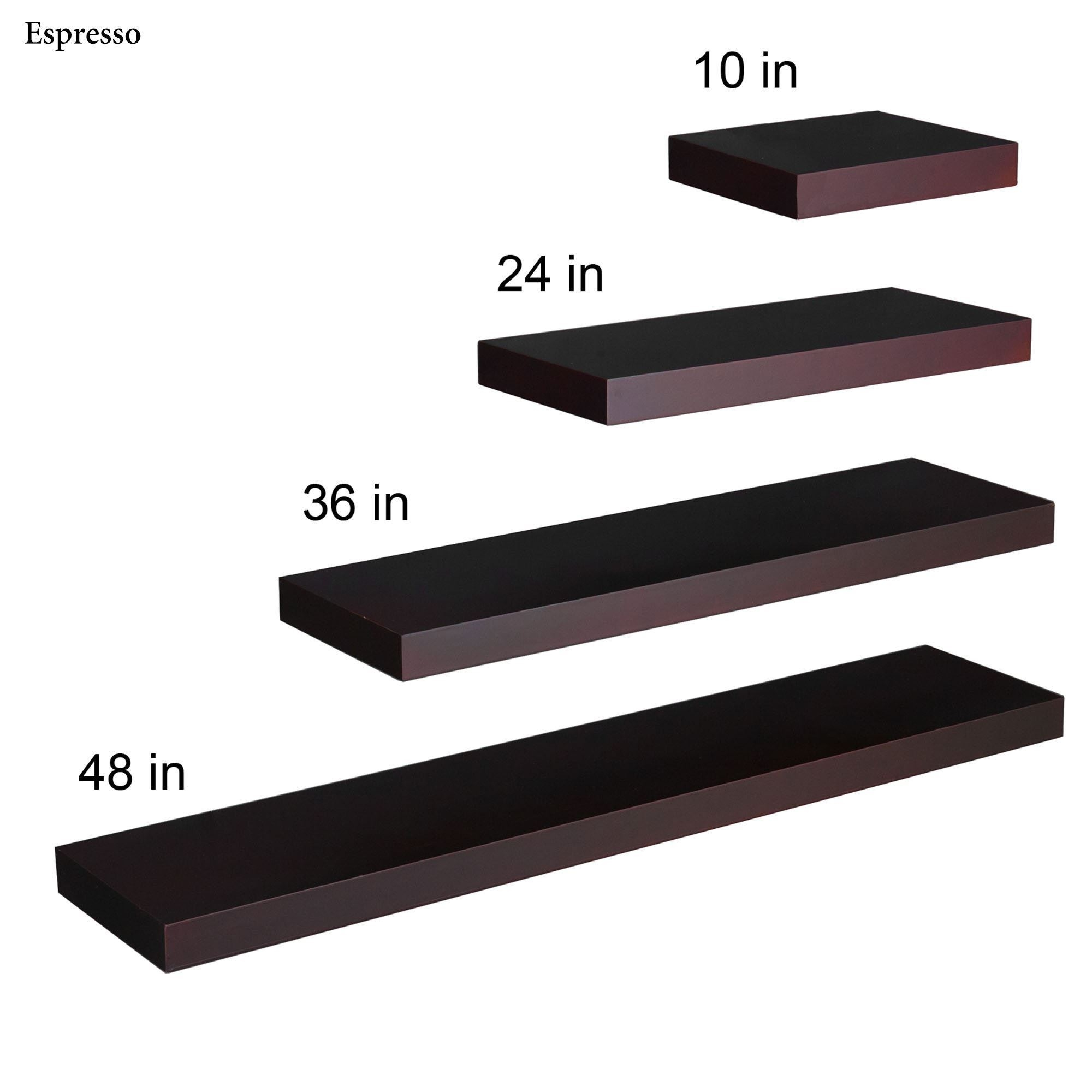 Manhattan Black Wooden Floating Wall Shelves For Floating Wall Shelves (#10 of 12)