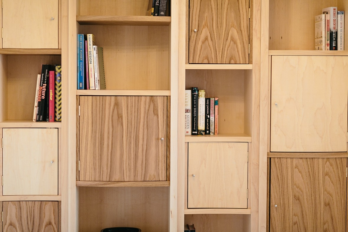 Maple And Oak Bespoke Shelving Hand Crafted And Made To Measure Throughout Bespoke Cupboard (#11 of 15)