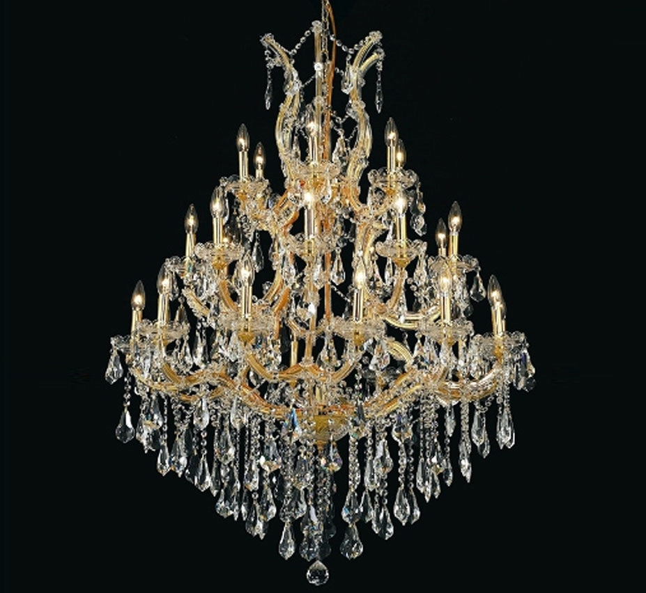 Maria Theresa Collection 28 Light Extra Large Crystal Chandelier Regarding Extra Large Crystal Chandeliers (#8 of 12)
