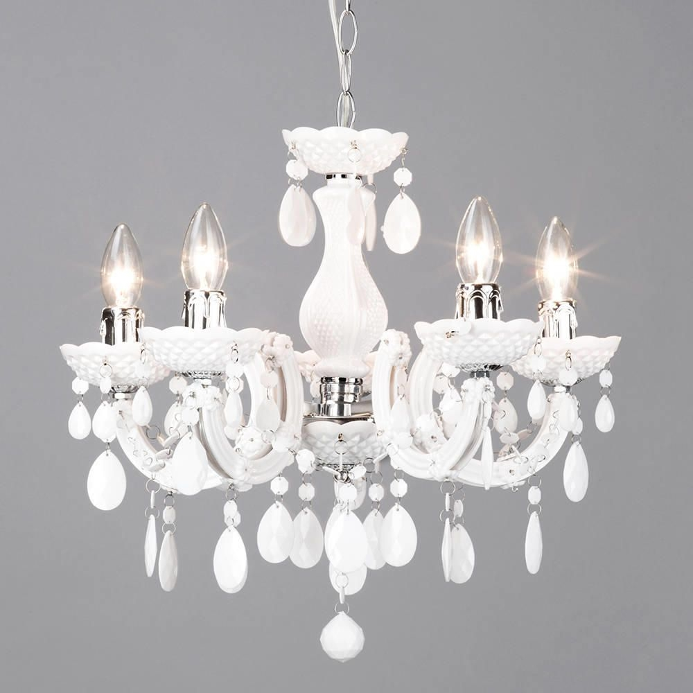 Marie Therese 5 Light Dual Mount Chandelier White From Litecraft Intended For White Chandelier (#5 of 12)
