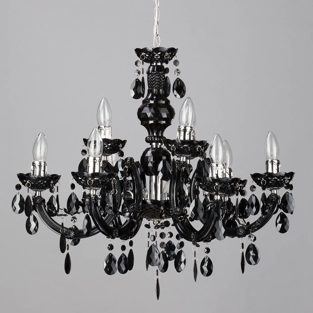Marie Therese 9 Light Dual Mount Chandelier Black From Litecraft Inside Black Gothic Chandelier (#10 of 12)