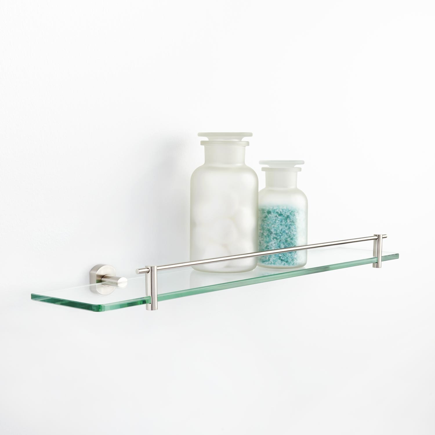 Marlton Tempered Glass Shelf Bathroom Pertaining To Glass Shelves (#10 of 12)
