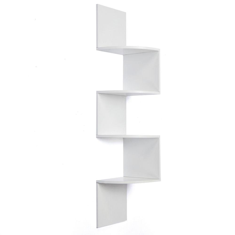 Martha Stewart Living 30 In Classic White Corner Shelf 3 Pack Intended For Corner Shelf (#8 of 12)