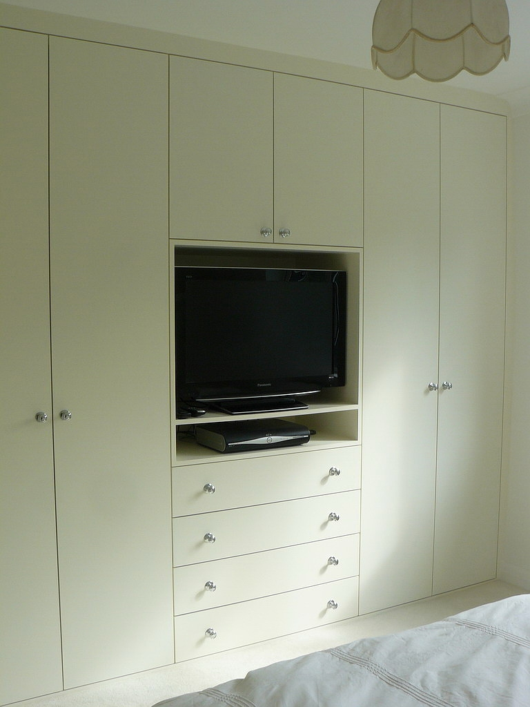 Master Bedroom Wall Built Ins Add Lots Of Closet Space And Throughout Built In Wardrobes With Tv Space (View 3 of 10)