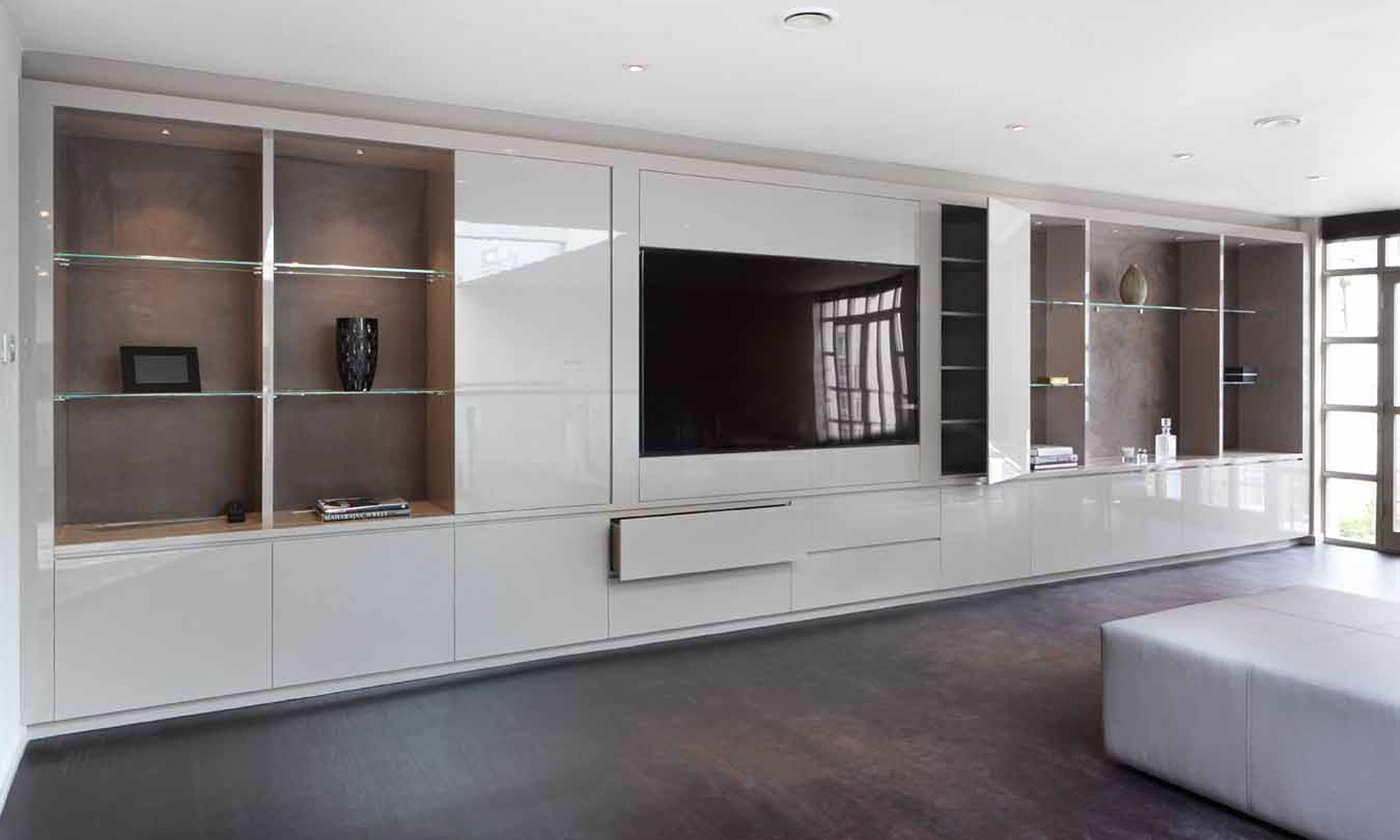 Media Cabinets London Inside Bespoke Tv Unit (#12 of 15)