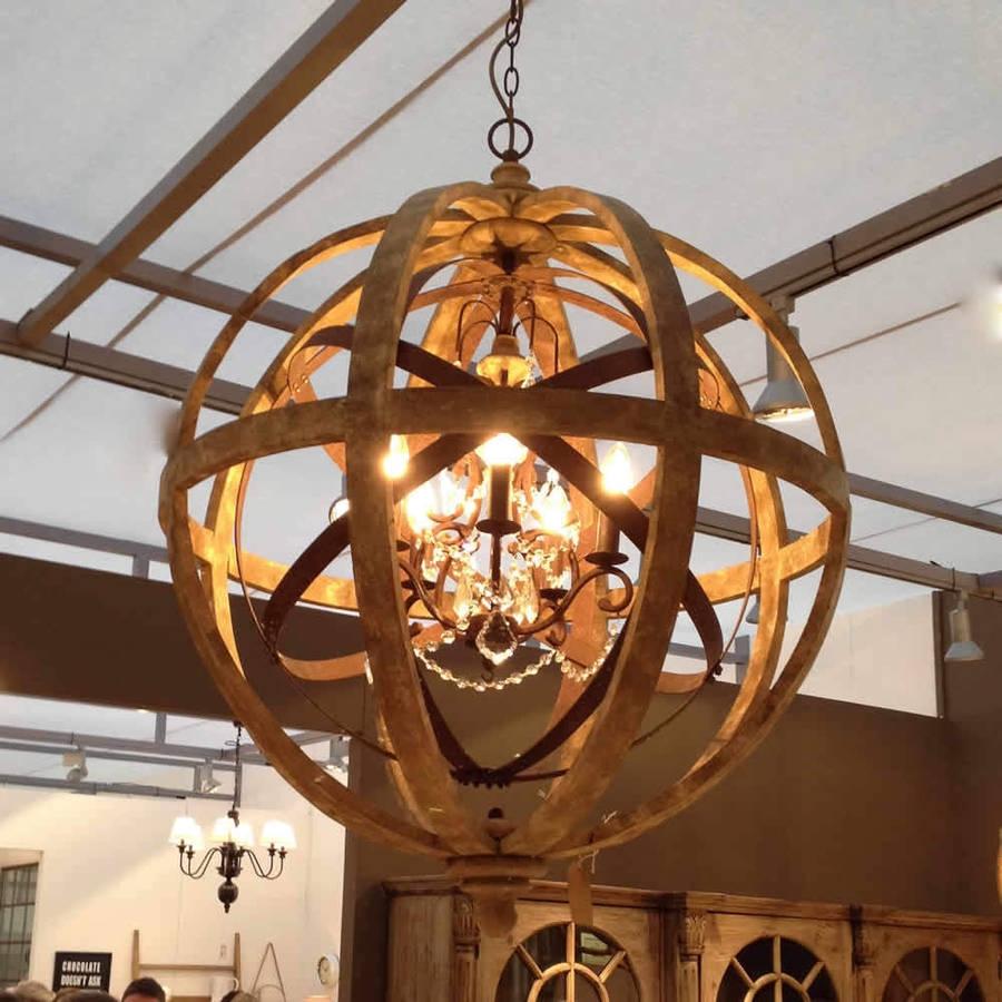 Metal Sphere Chandelier Shanti Designs For Metal Sphere Chandelier (#10 of 12)