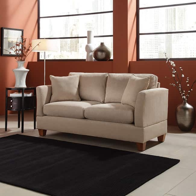 Microfiber 68 Inch Small Space Sofa Free Shipping Today In 68 Inch Sofas (#8 of 15)