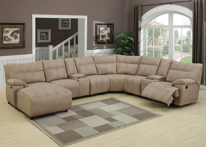 Microfiber Recliner Sectional Sectional Sofa Recliner Chaise Inside Recliner Sectional Sofas (#7 of 15 & 15 Inspirations of Recliner Sectional Sofas islam-shia.org