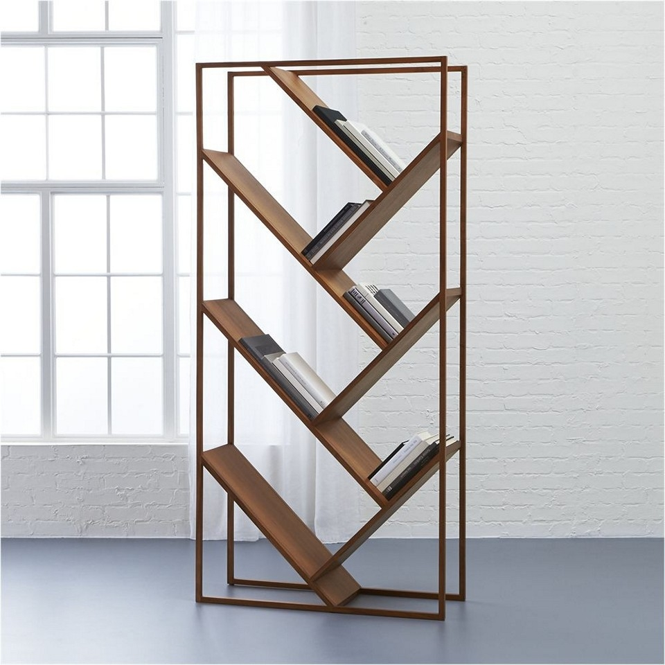 Mid Century Modern Bookcase For Small Library At Home Books Intended For Modern Bookcase (#7 of 15)