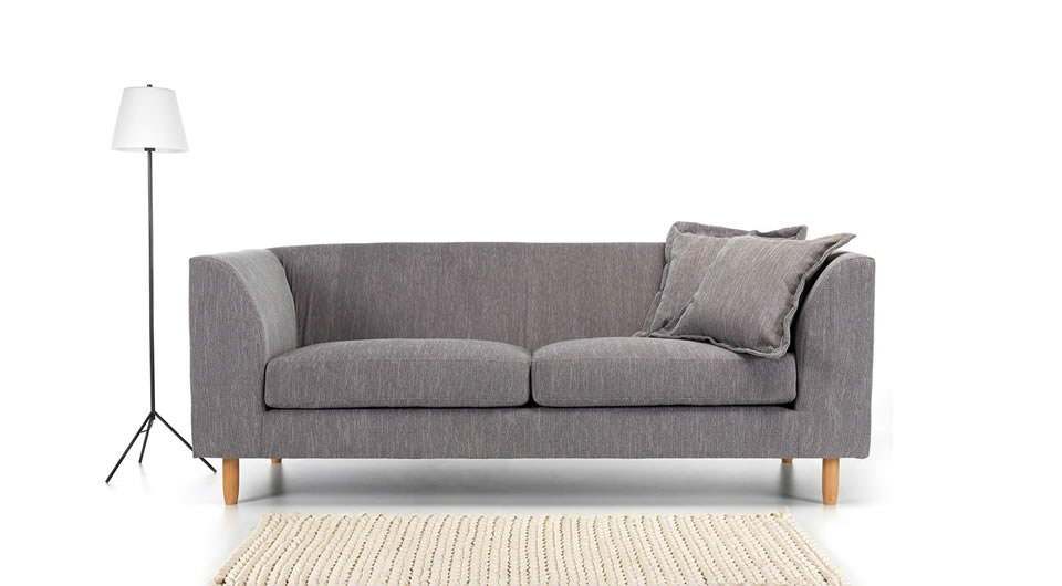 Mika 3 Seater Sofa Light Grey Moderncouk For Modern 3 Seater Sofas (#8 of 15)