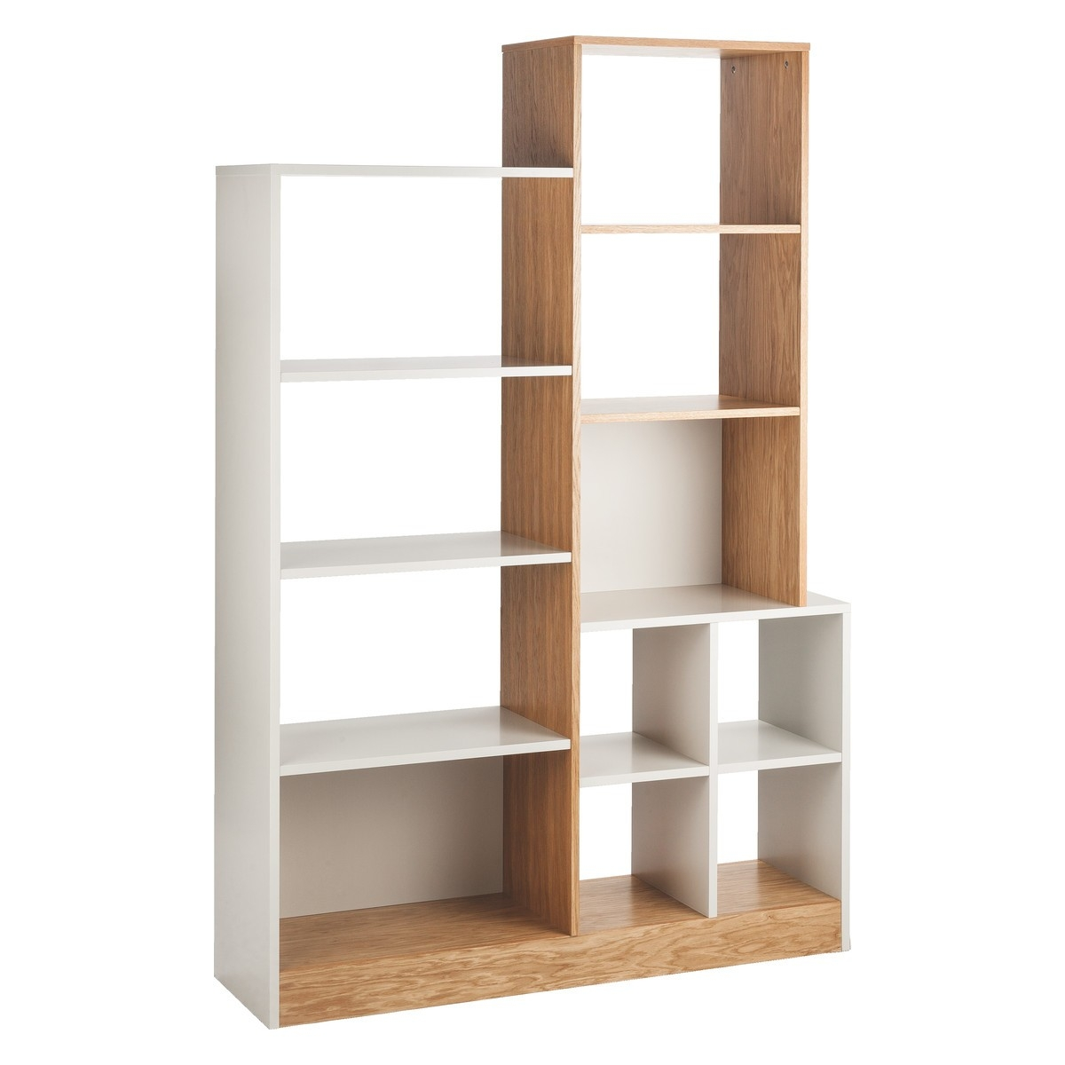 Miles Oak And Linen White Large Tall Shelving Unit Buy Now At Pertaining To Large Bookshelf Units (#8 of 15)