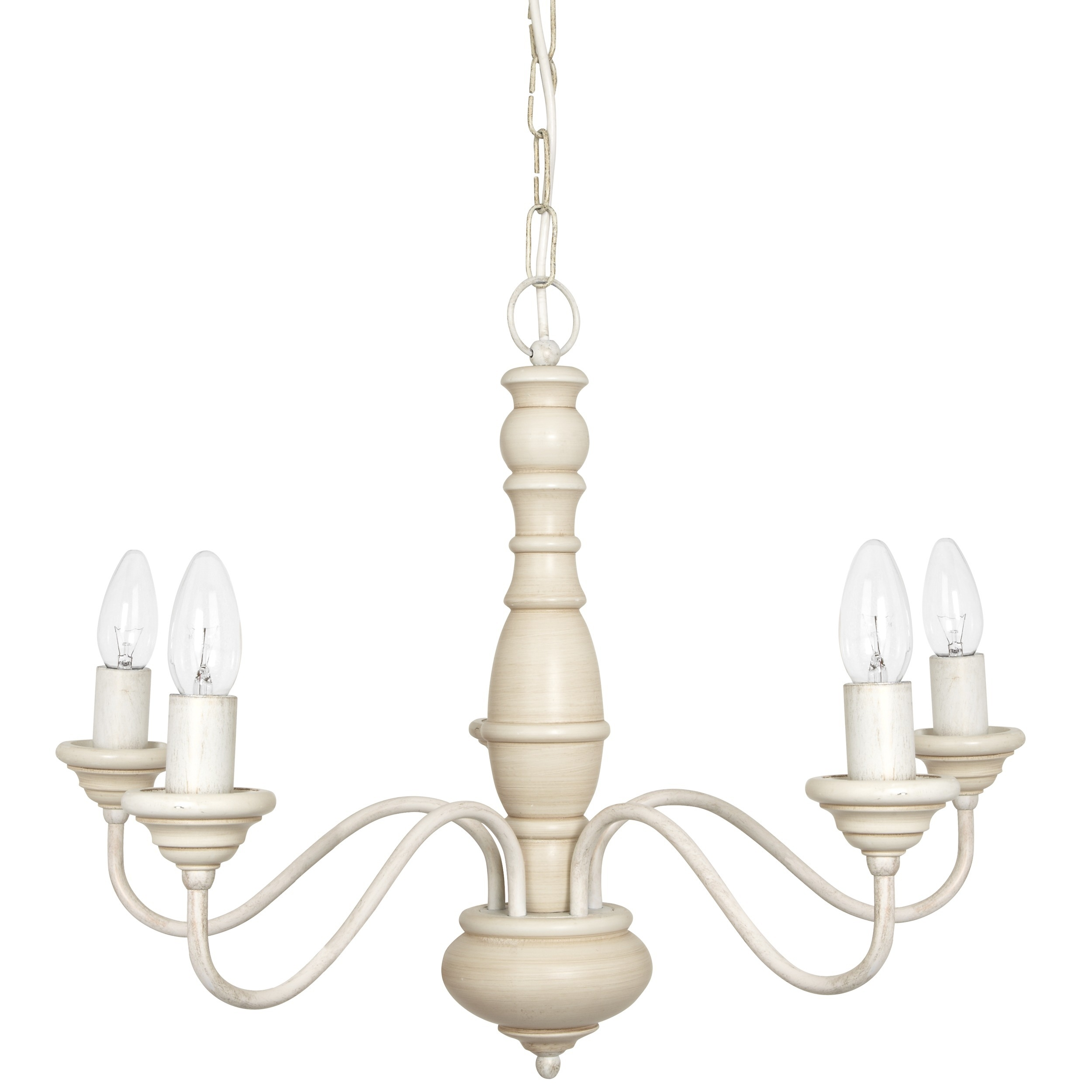 Milnsbridge Cream 5 Light Chandelier At Laura Ashley With Cream Chandelier (#9 of 12)