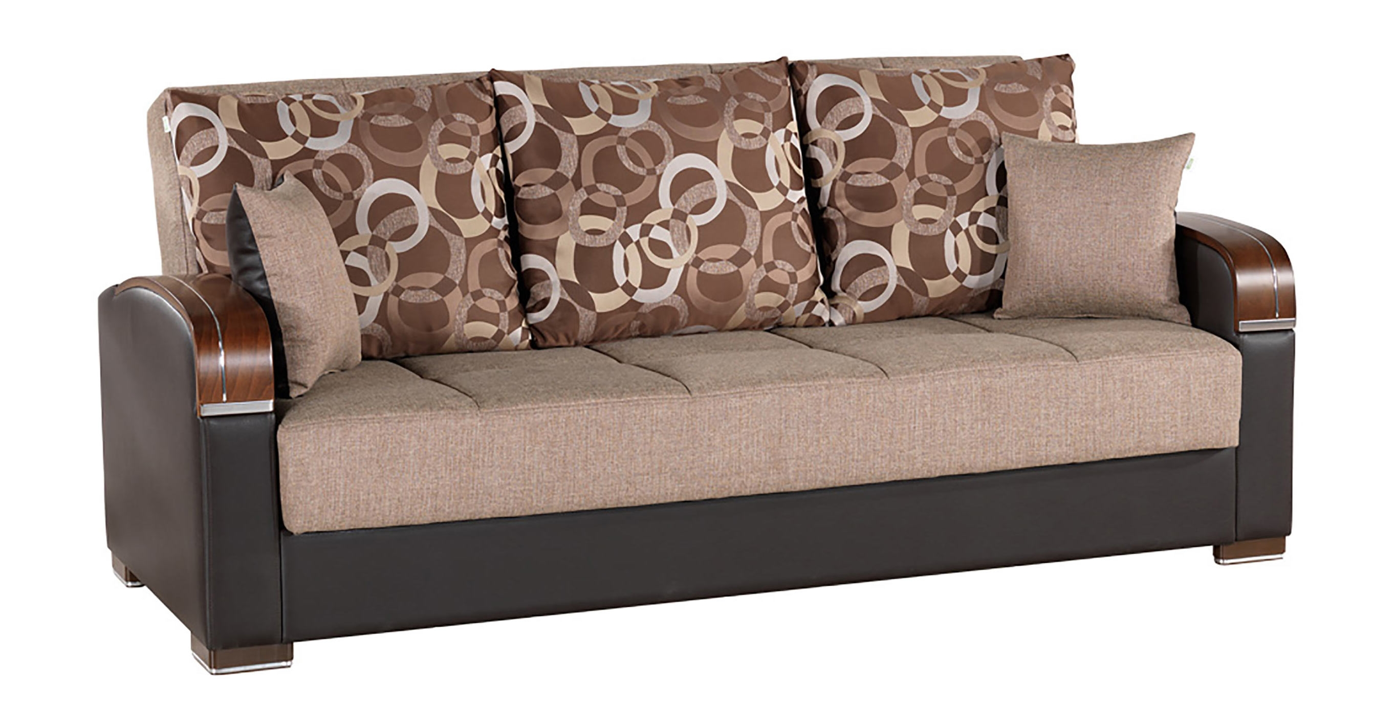 Mobimax Brown Convertible Sofa Bed Casamode Throughout Convertible Sofa Bed (#8 of 15)