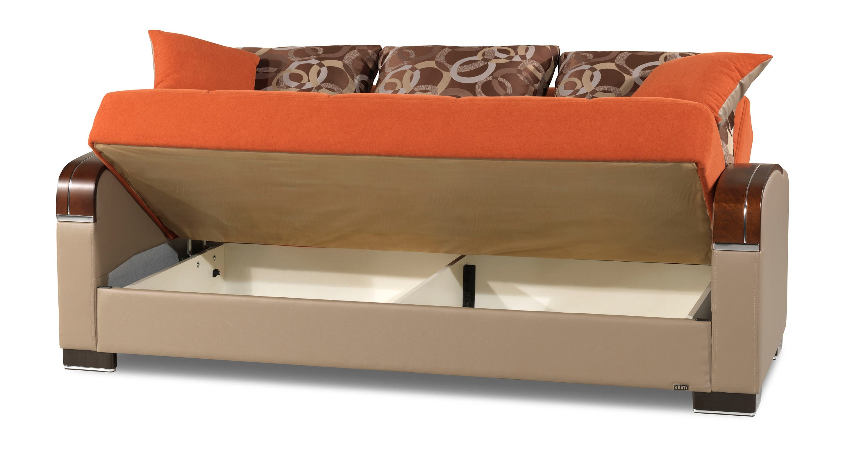 Mobimax Orange Convertible Sofa Bed Casamode For Convertible Sofa Bed (#9 of 15)