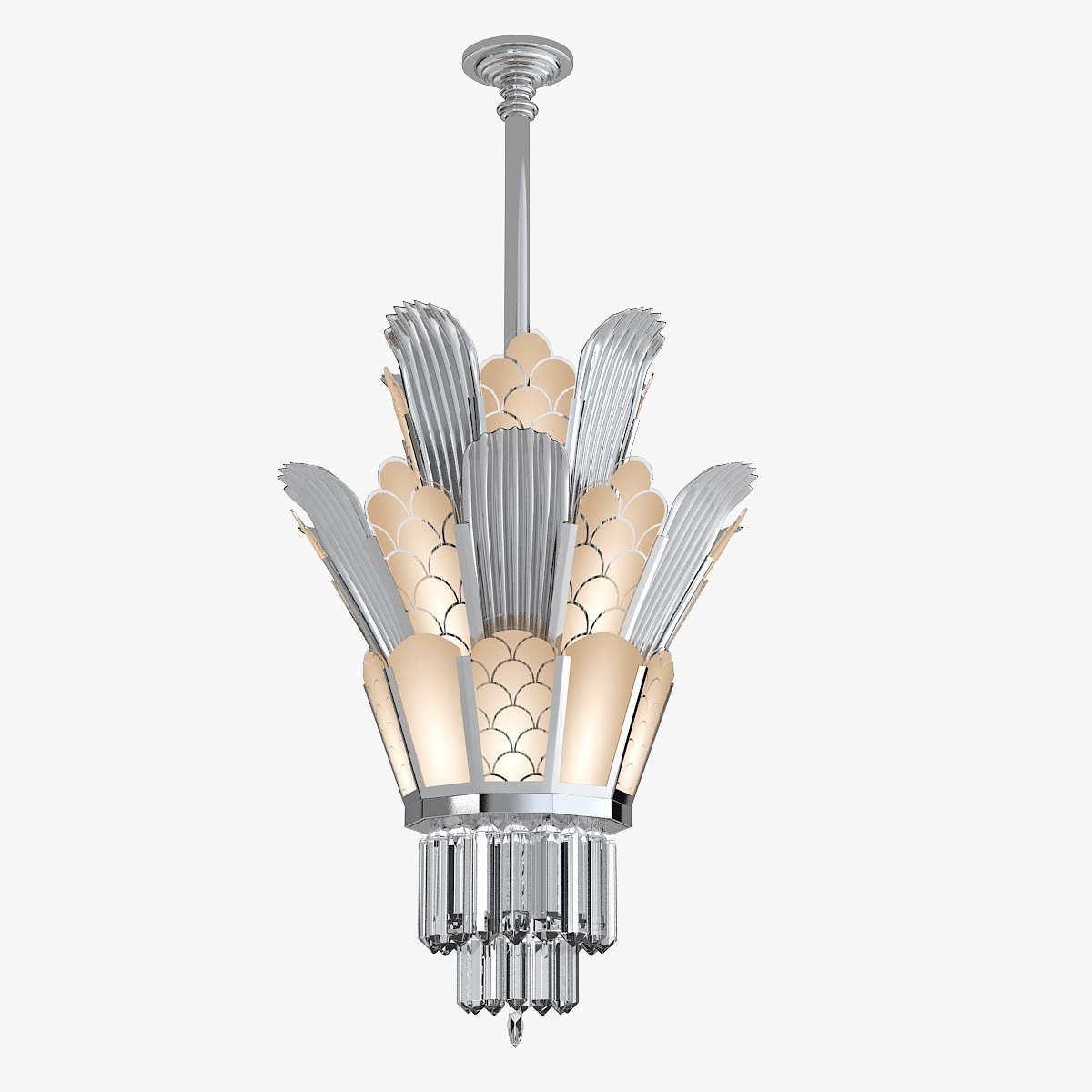 Model Andy Torton Art Deco Throughout Art Deco Chandelier (#11 of 12)
