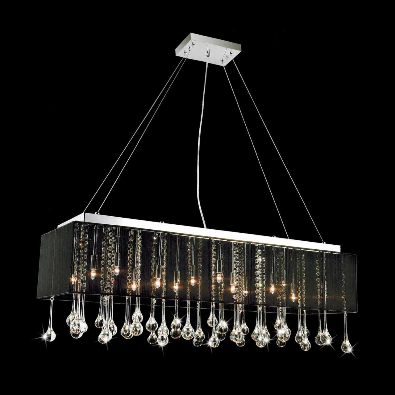 Modern Black Chandelier Pertaining To Black Contemporary Chandelier (#12 of 12)