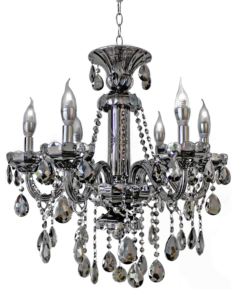 Modern Black Chandelier Throughout Grey Crystal Chandelier (#10 of 12)