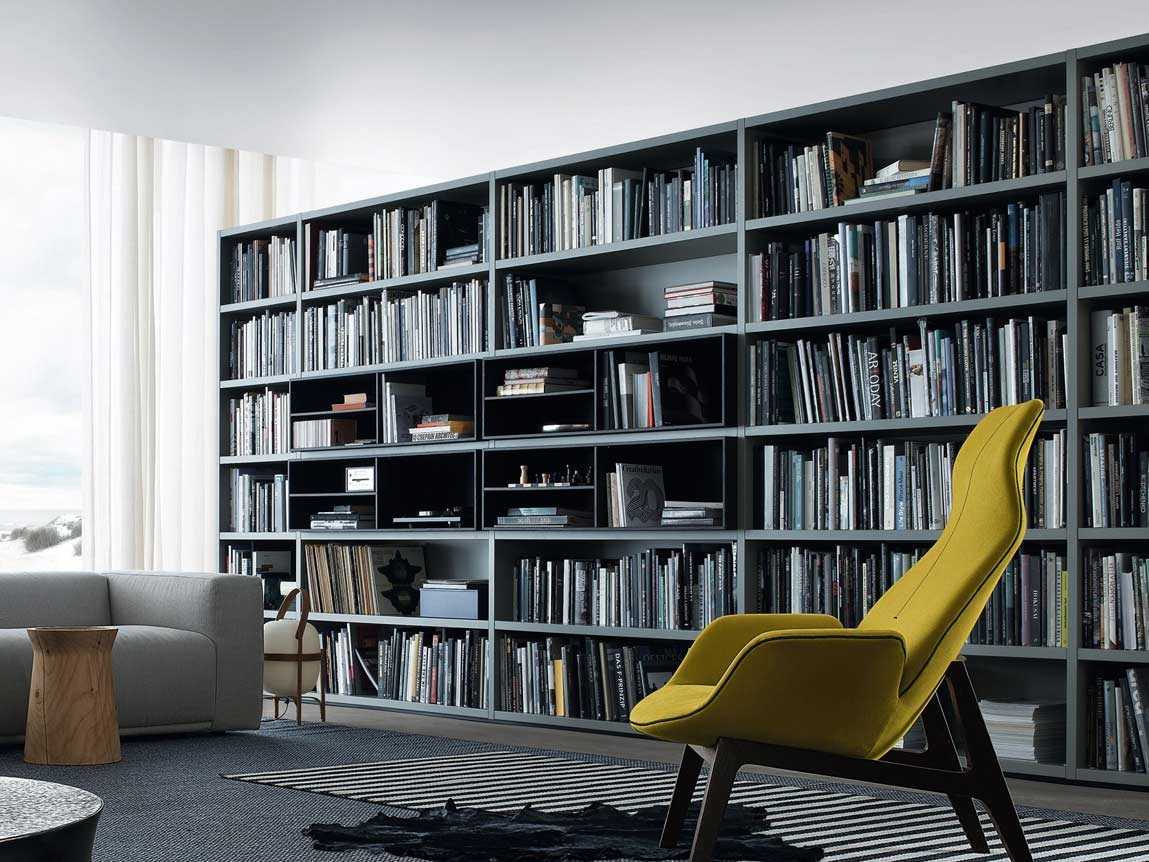 Modern Black Huge Bookcase Partition Big Bookshelf Furniture In Huge Bookshelf (#13 of 15)