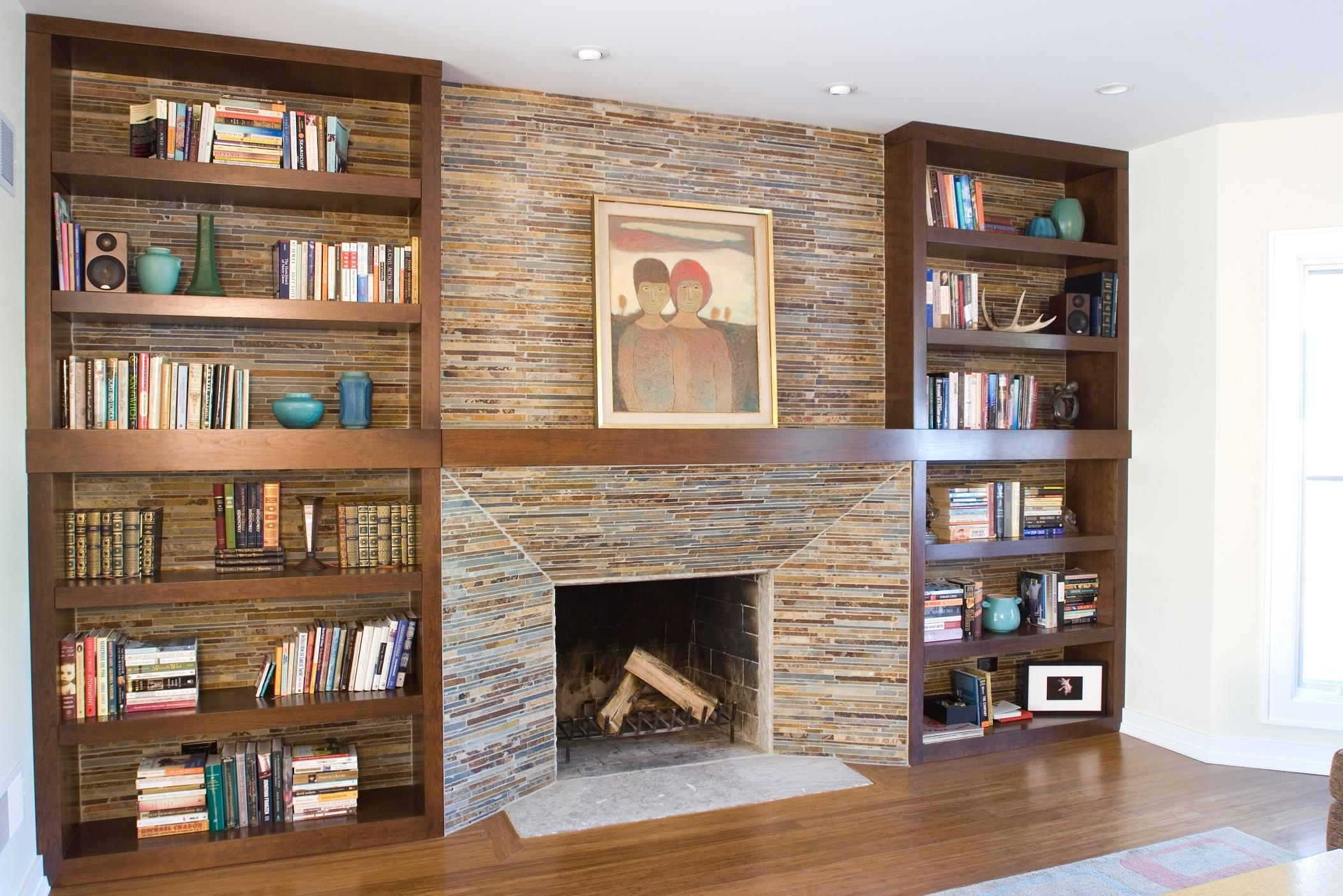 Modern Built In Bookshelves Contemporary Modern Look Fitted With Fitted Bookcase (#10 of 15)