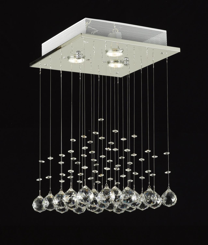 Modern Chandelier Rain Drop Lighting Crystal Ball Fixture Pendant Regarding Ultra Modern Chandeliers (#7 of 12)