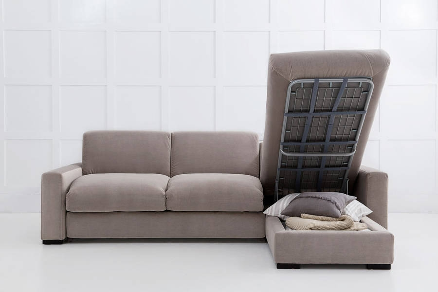 Modern Corner Sofa Bed With Storage Eva Furniture Throughout Sofa Beds With Storages (#11 of 15)