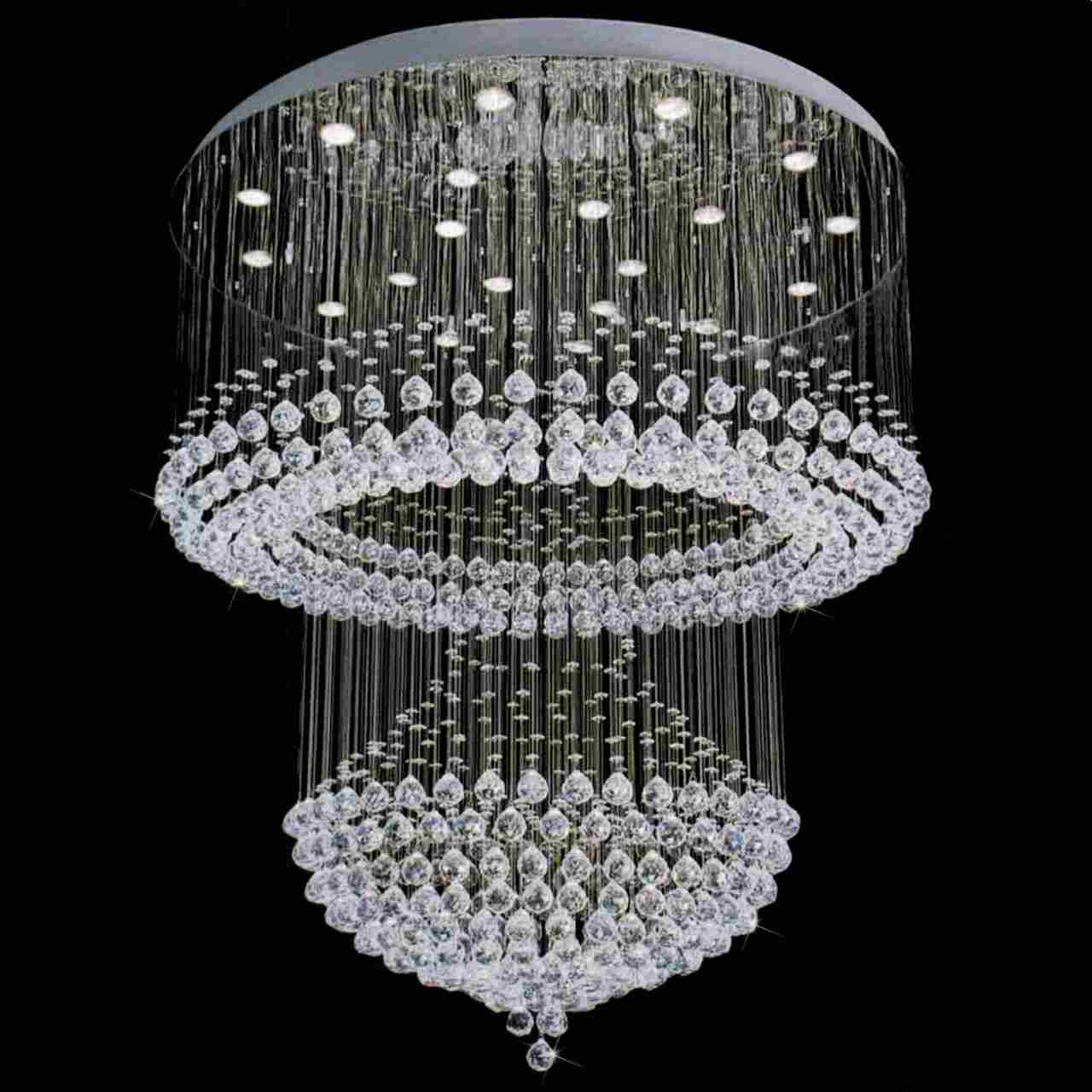 Modern Crystal Chandelier Pertaining To Chandelier Mirror (#10 of 12)