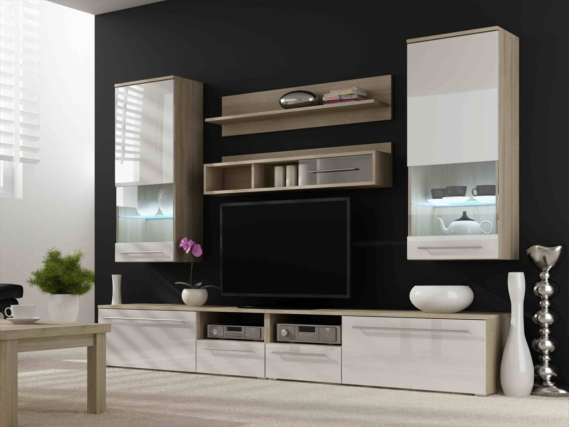 Modern Entertainment Centers Classic And Modern Wall Units For Throughout Tv Wall Units (#11 of 15)
