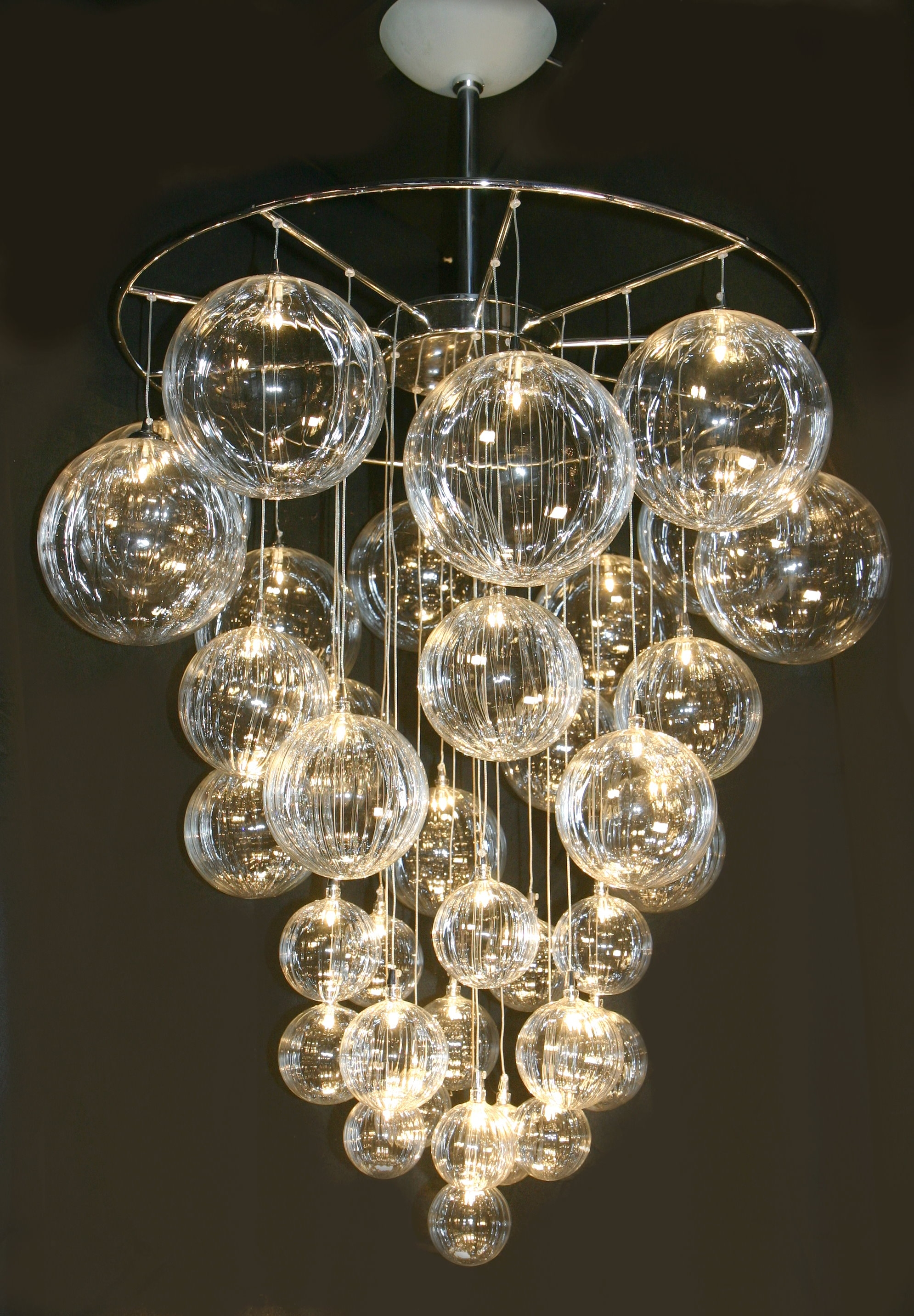 Modern Glass Chandeliers For Glass Chandeliers (#7 of 12)