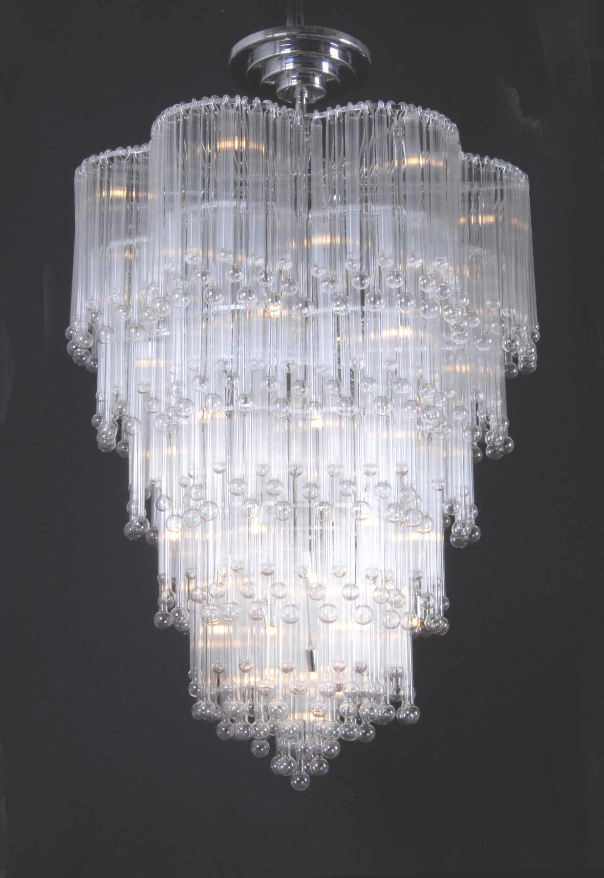 Modern Glass Chandeliers With Glass Chandeliers (#8 of 12)